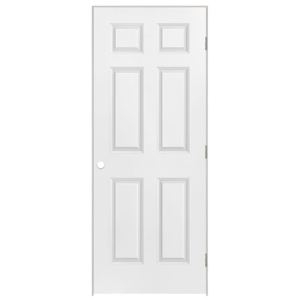 34-inch x 80-inch Lefthand 6-Panel Prehung Interior Door