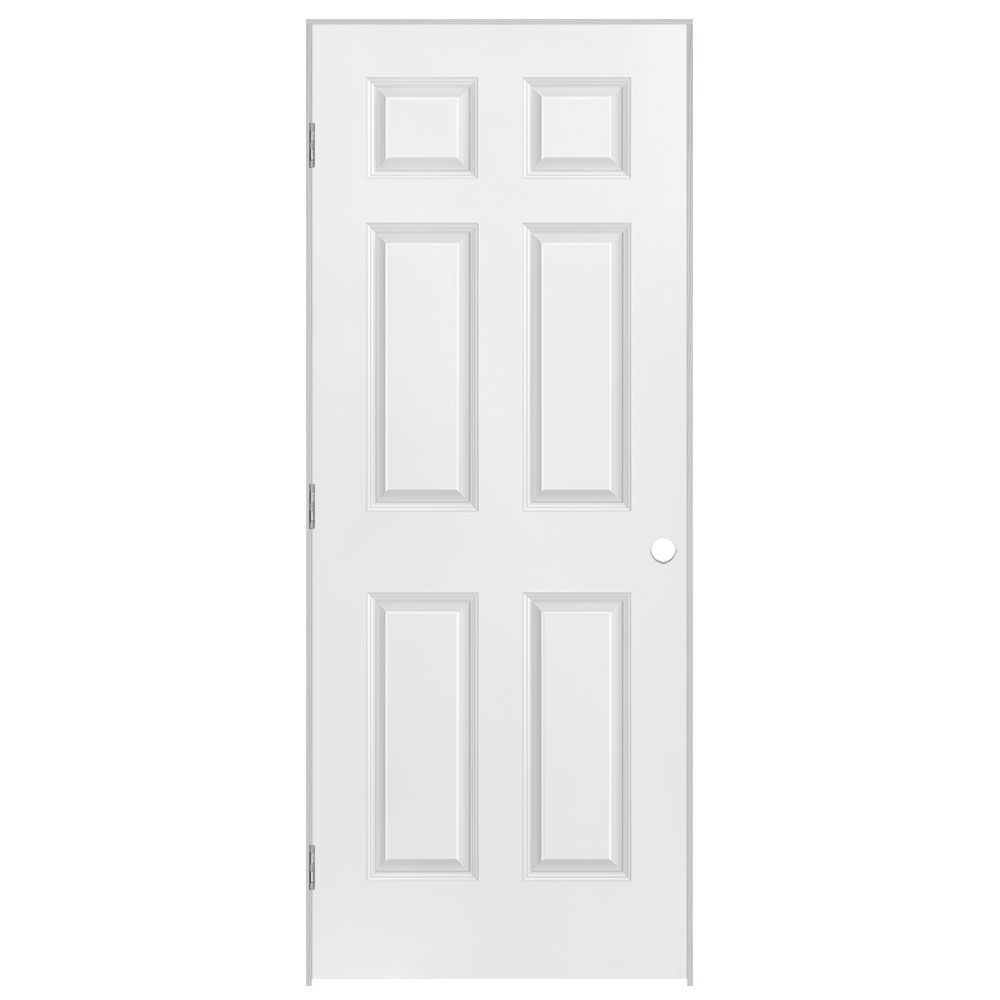 34-inch x 80-inch Righthand 6-Panel Prehung Interior Door