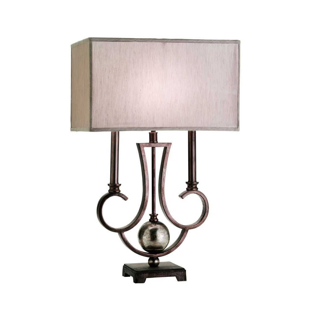 Zelfa Collection 1-Light Wide Bronze Table Lamp 17366-014 in Canada