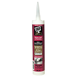 DAP 3.0 Kitchen, Bath & Plumbing High Performance Sealant - Crystal Clear - 266 ml