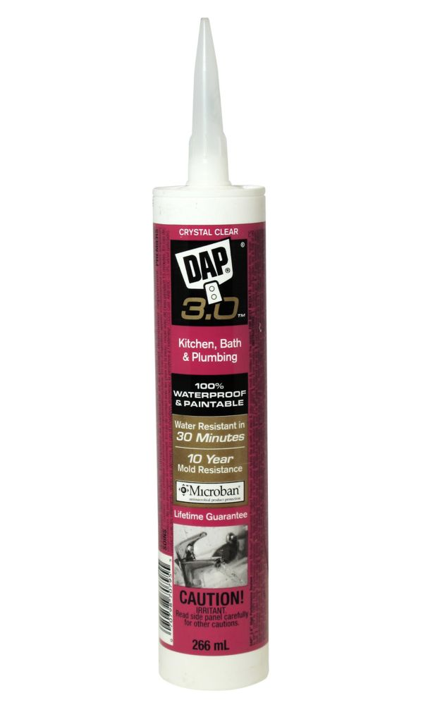 3.0 Kitchen, Bath & Plumbing High Performance Sealant - Crystal Clear