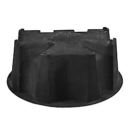 RTS Home Accents Flat Back Rain Barrel Stand in Black