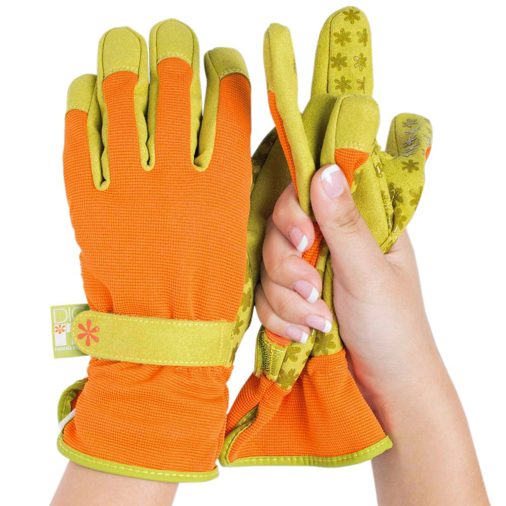 Dig It (L) Gloves with Innovative Pillow Top Protector inside each fingertip for Advanced Protection
