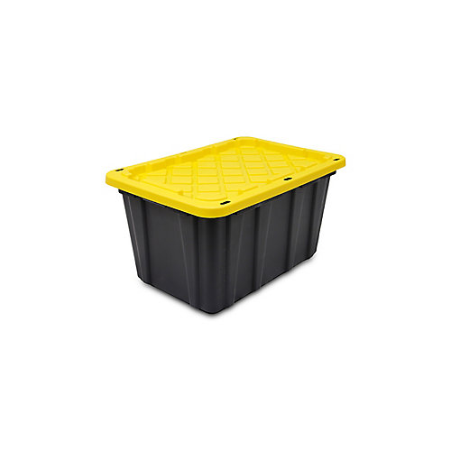 102 L Strong Box Tote with Locking in Black/Yellow