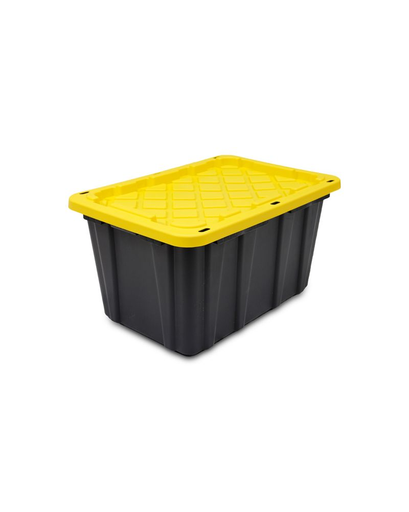 Strong Box Lockable Tote In Black/Yellow, 102 L