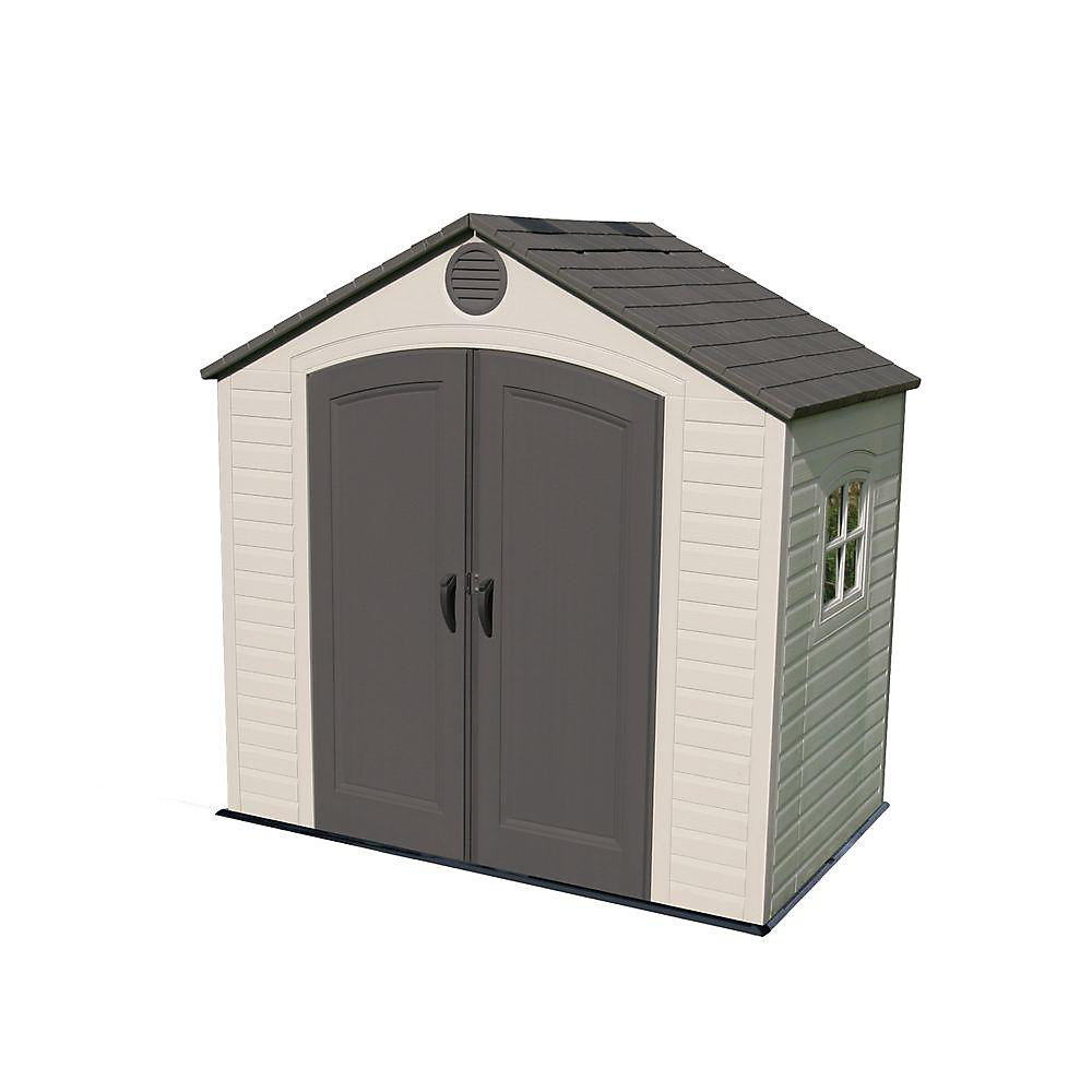 Lifetime 8 ft. x 5 ft. Steel and Polyethylene Storage Shed ...