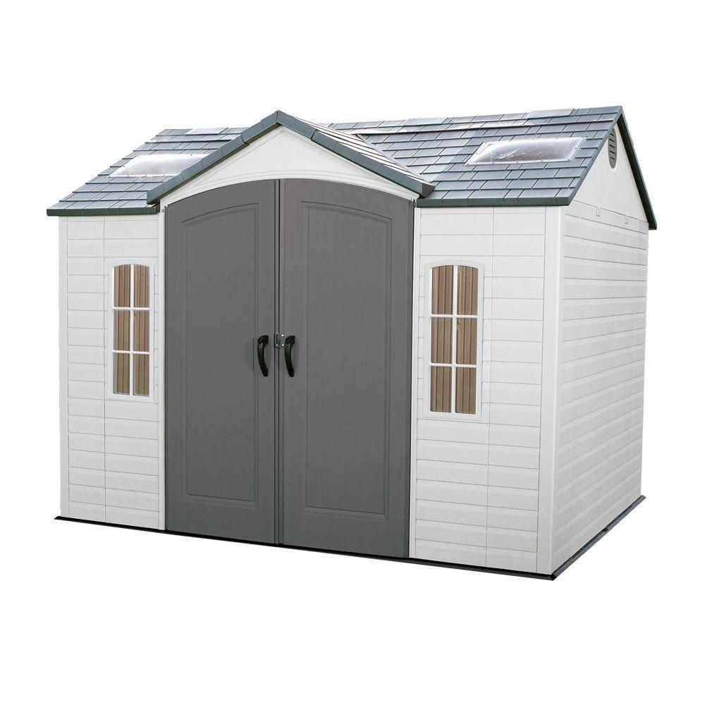 Lifetime 10 ft. x 8 ft. Outdoor Garden Shed