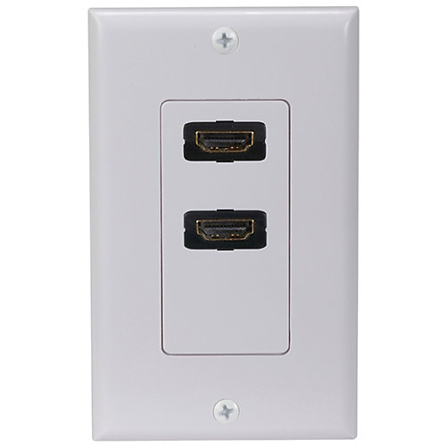 HDMI Wall Plate - Dual Outlet