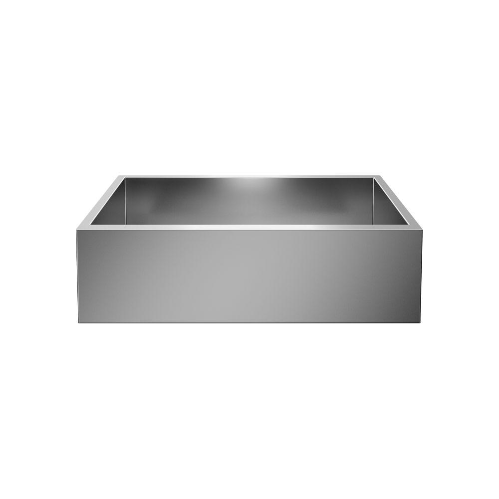 Handcrafted Premium Single-Bowl Farmhouse Kitchen Sink, Undermount