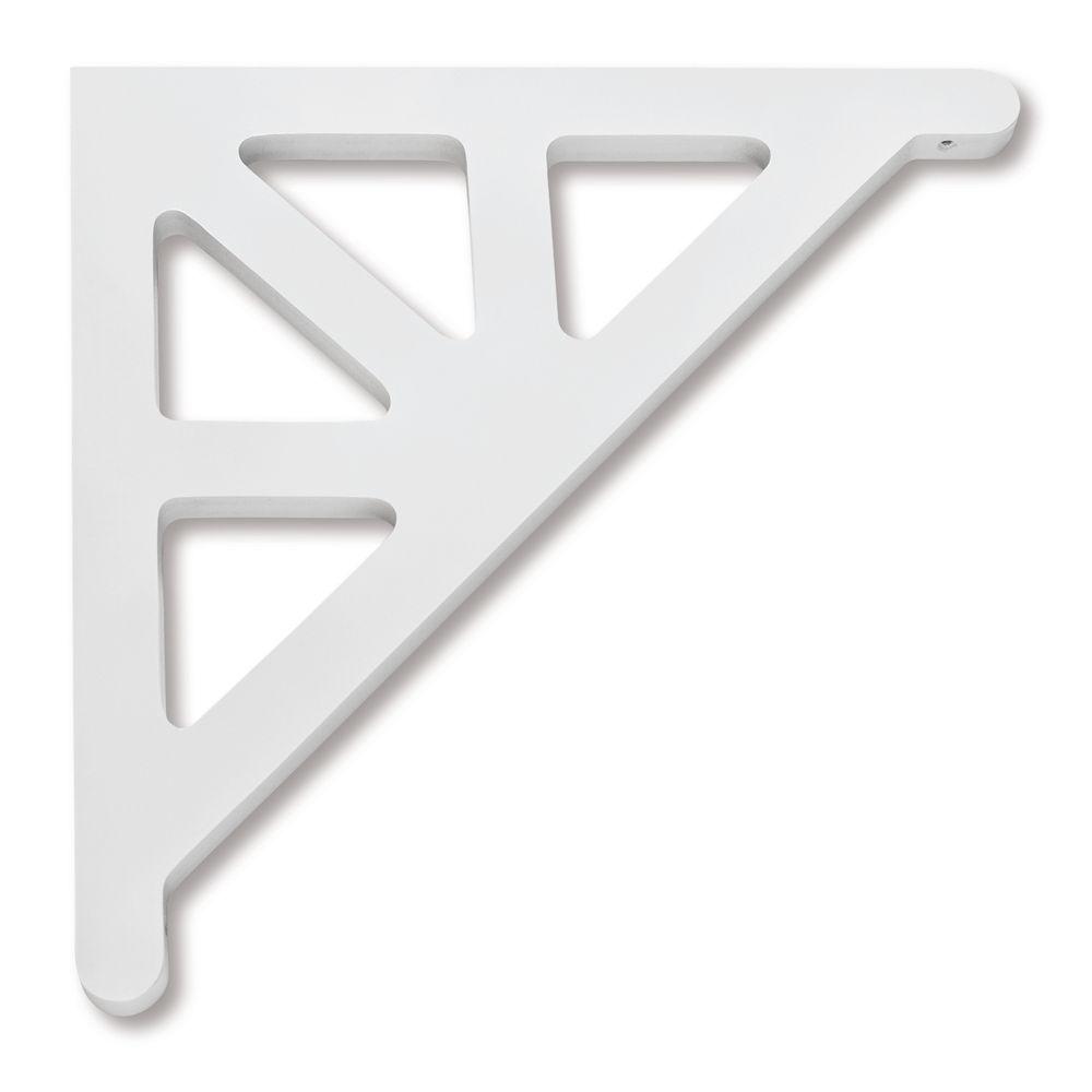 PVC Porch Bracket 14-3/4 Inch X 14-3/4 Inch X 3/4 Inch GB012-ZWC Canada Discount