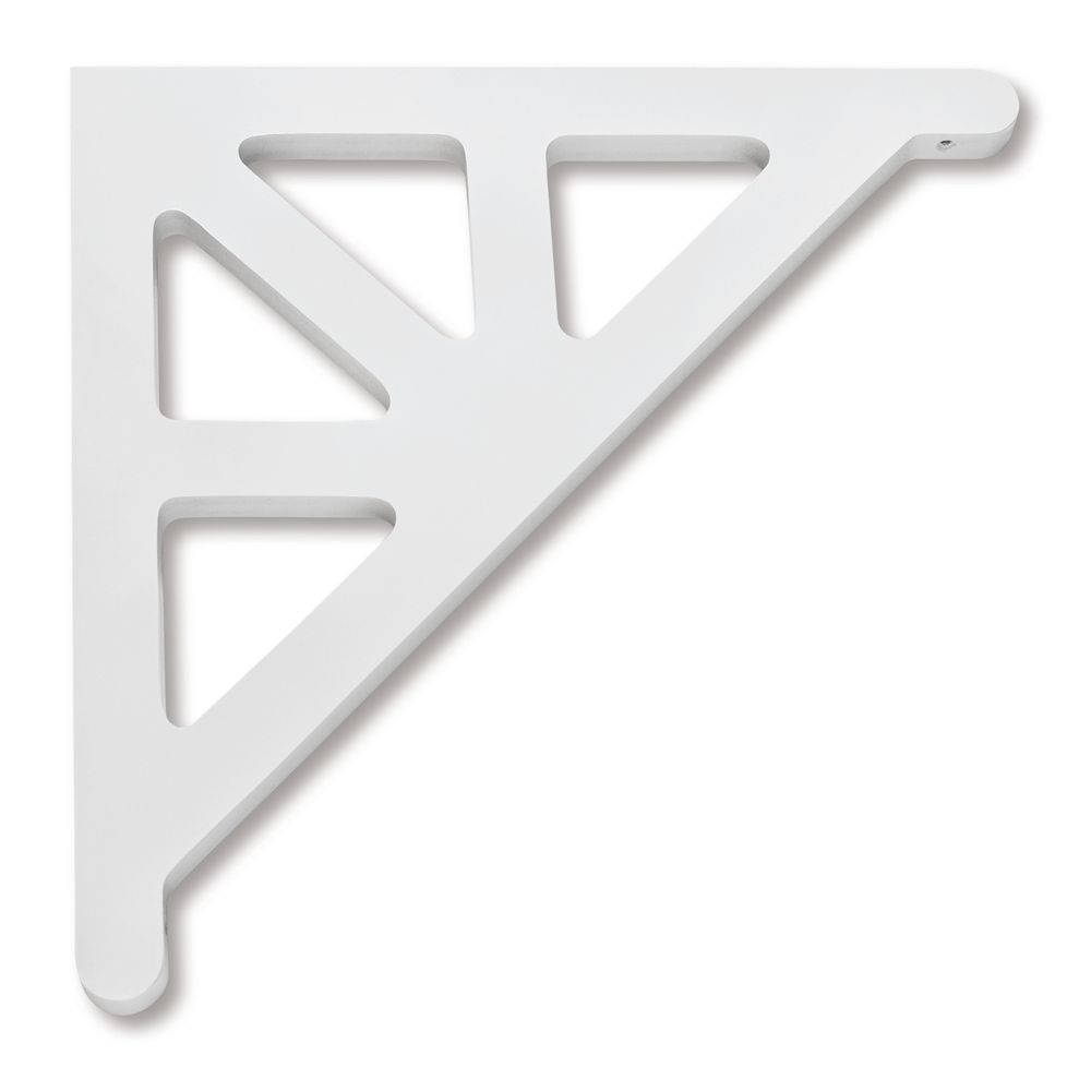 PVC Porch Bracket 14-3/4 Inch X 14-3/4 Inch X 3/4 Inch