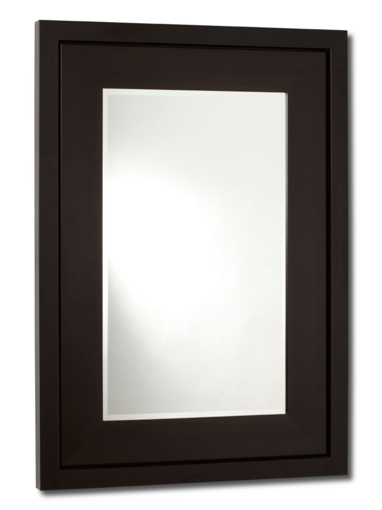 Manhattan, Mirror Satin Brown - 18 Inch x 30 Inch