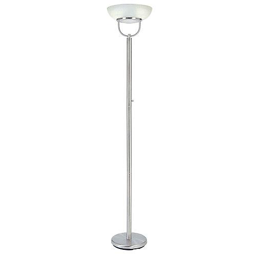 Hampton bay brushed nickel touchiere floor lamp with alabaster brushed nickel touchiere floor lamp with alabaster glass onoff switch mozeypictures Choice Image