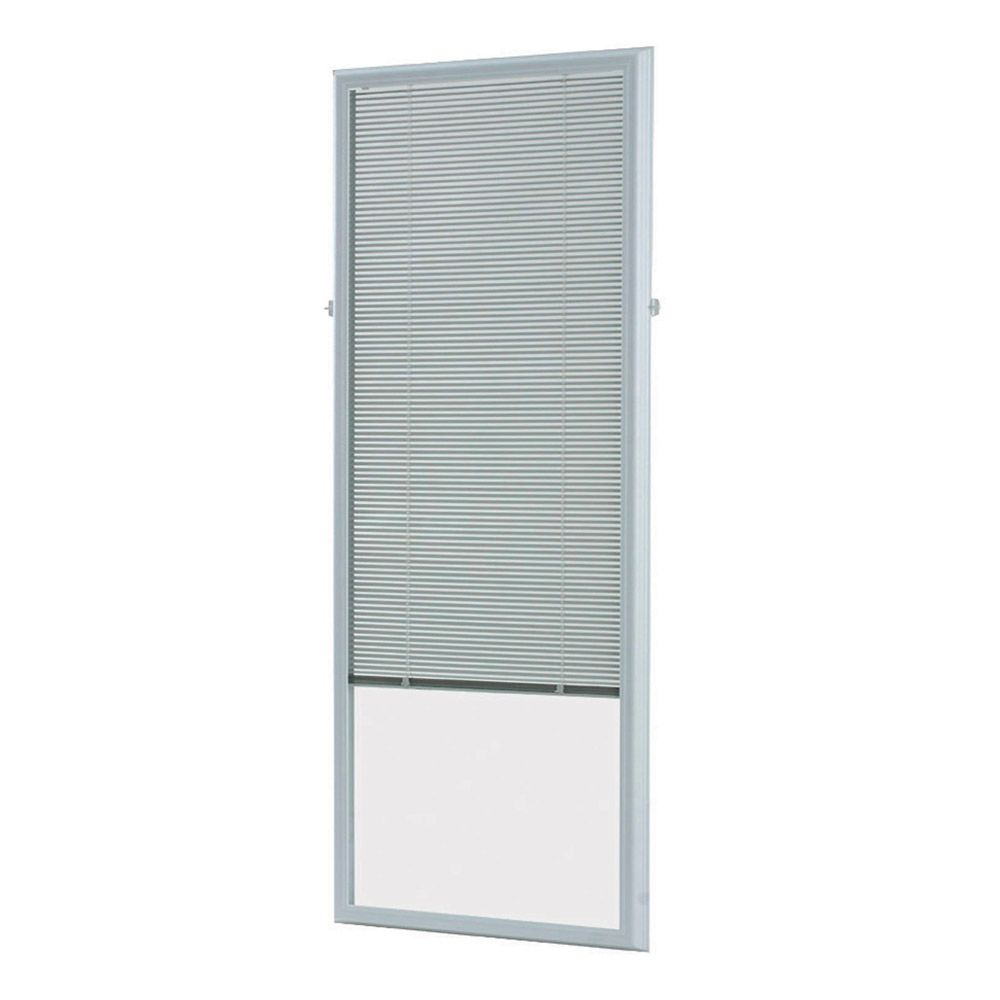 ODL 25-inch x 66-inch White Add-on Blind for Flush Frame Doors