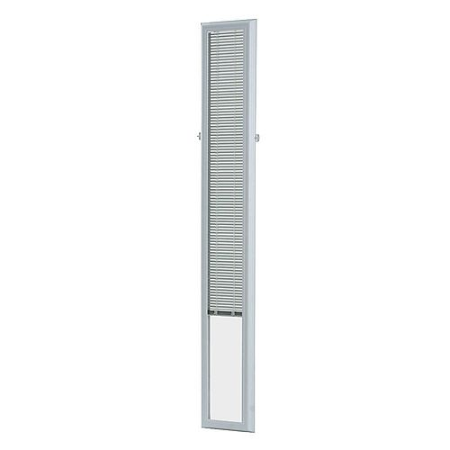 ODL 7-inch x 64-inch White Aluminum Add-on Blind for Sidelight Doors
