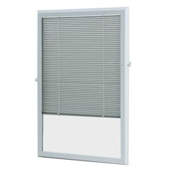 ODL 20-inch x 36-inch White Aluminum Add-on Blind for Half Light Doors