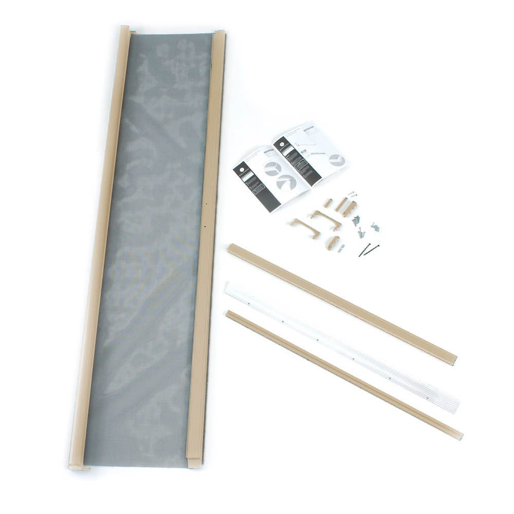 36-inch x 80-inch Aluminum Sandstone Standard Retractable Screen