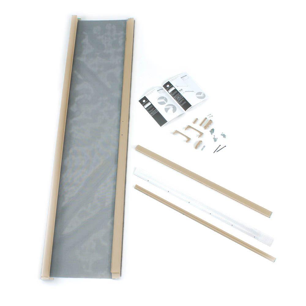 Diy 32 inch x 80 inch glenwood wood screen door the home for 8 foot retractable screen door