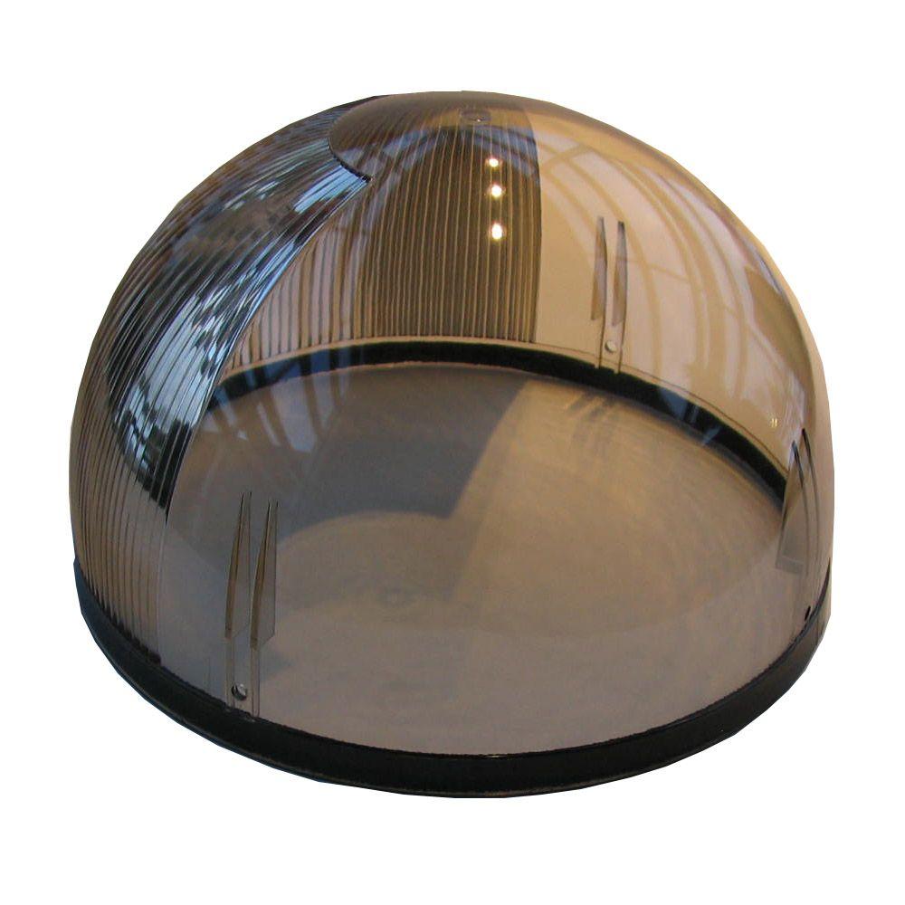 Dôme de rechange résistant aux intempéries en polycarbonate de 10 po pour fenêtre de toit tubulai...