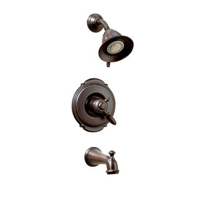 Victorian Collection 17 Series Bath/Shower Faucet in Stainless Steel