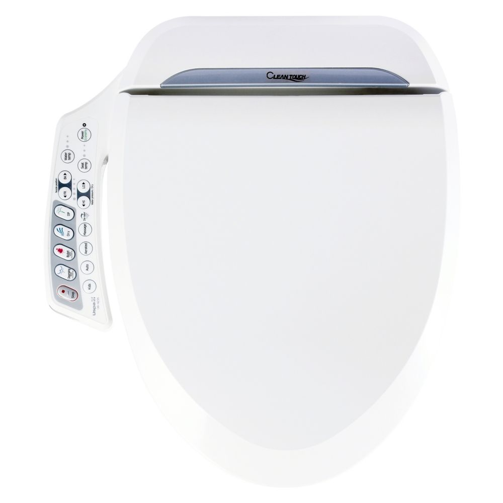White Color Bidet Seat - Small Size With Console Control.