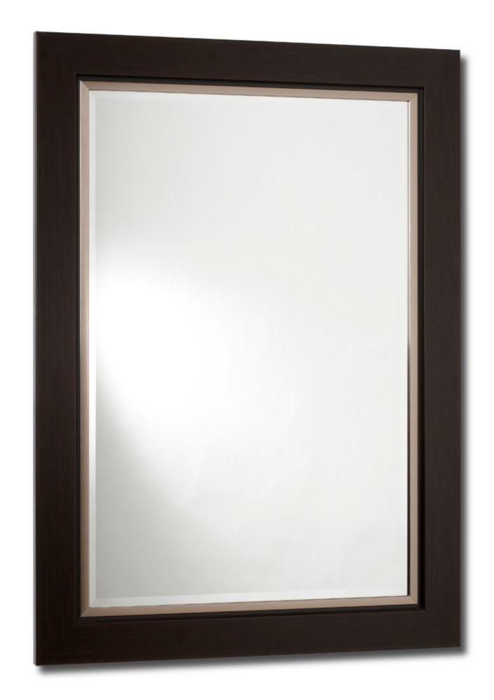 Wellington, Mirror, Satin Brown - 31 Inch x 43 Inch