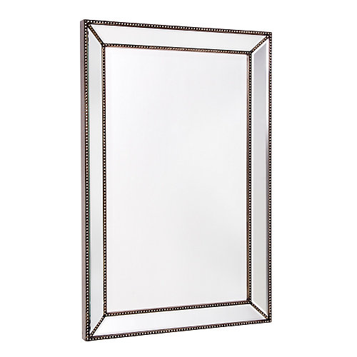 Trinity 24-inch x 36-inch Beaded Mirror on Mirror