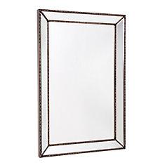 Trinity, Beaded Mirror on Mirror - 24 Inch x 36 Inch