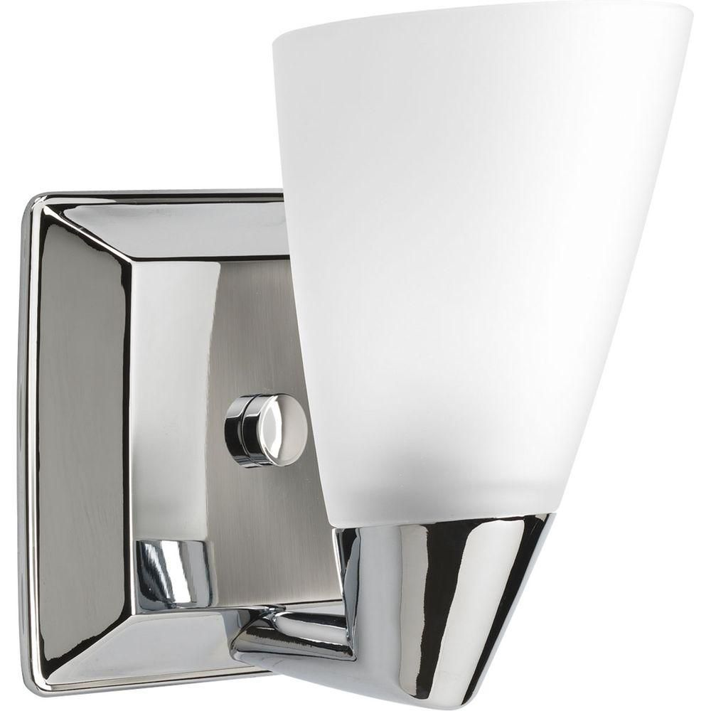 Rizu Collection Polished Chrome 1-light Vanity Fixture