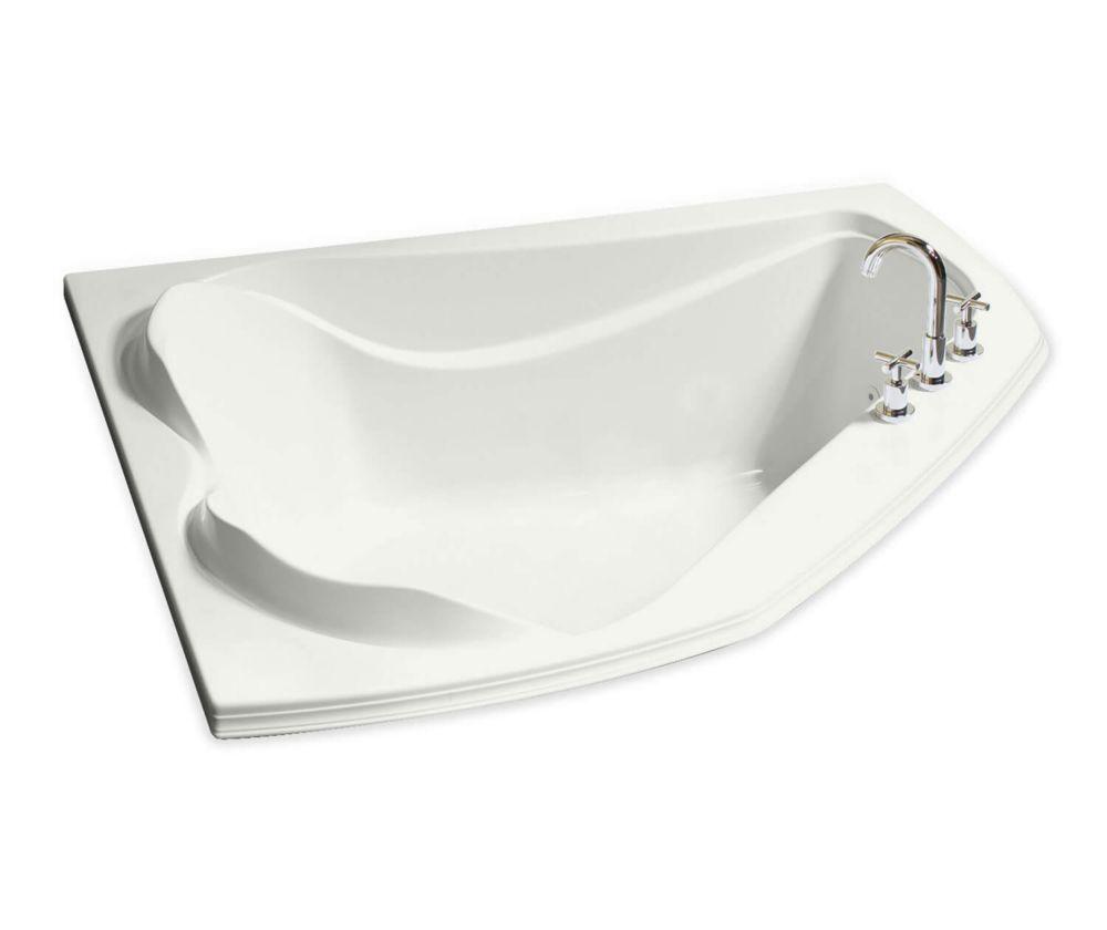 Cocoon Acrylic Corner Soaker Bathtub in White
