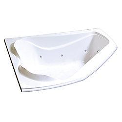 MAAX Bain Cocoon 6054 de coin en acrylique blanc avec système tourbillon Hydrosens