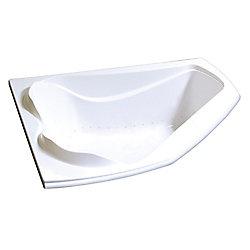 MAAX Bain Cocoon 6054  de coin en acrylique blanc avec système Aerosens