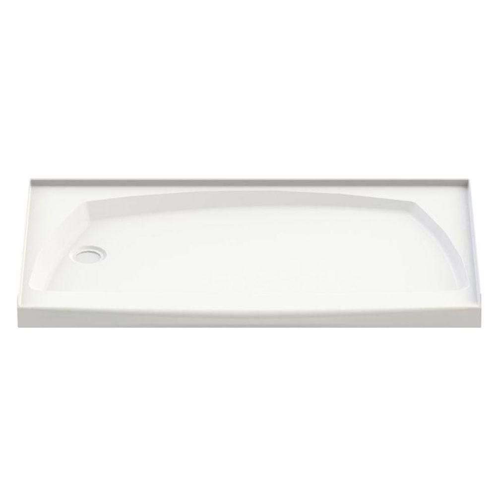 Urbano 6032 Left Drain White Acrylic Base