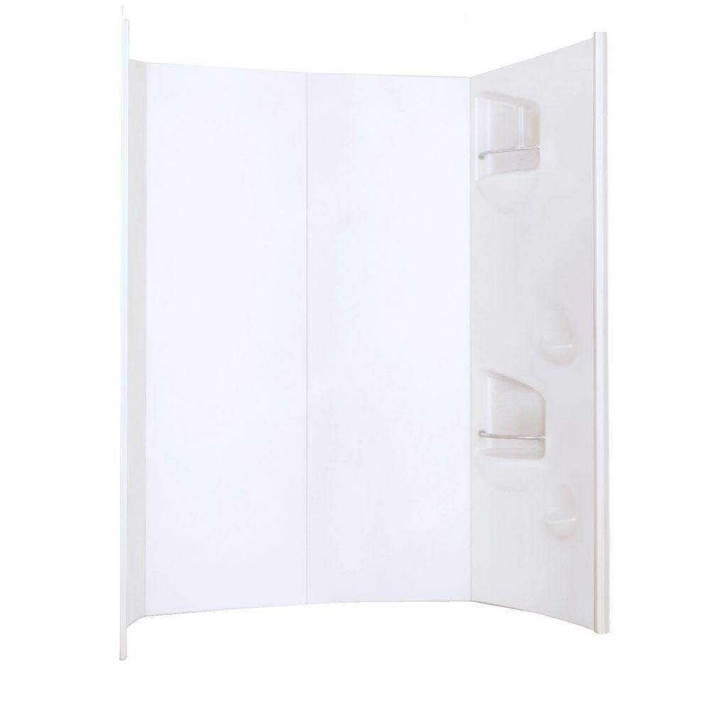 Urbano 60-Inch  x 32-Inch  Acrylic Wall Set in White
