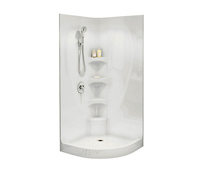 MAAX Boreal I 1-Piece Shower Stall in White | The Home Depot Canada