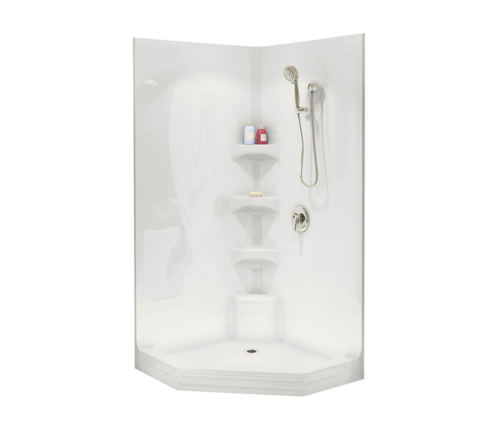 Boreal II 1-Piece Shower Stall in White