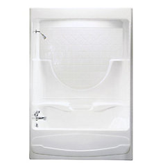 Montego 59.25-inch x 84-inch x 33-inch  Left Hand Drain Tub & Shower