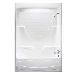 MAAX Montego I -Baignoire-douche 3 pièces en acrylique blancavec drain à droite