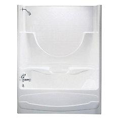 Montego 59.25-inch x 74-inch x 33-inch  Left Hand Drain Tub & Shower