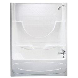MAAX Montego I -Baignoire-douche 3 pièces en acrylique blanc avec drain à droite