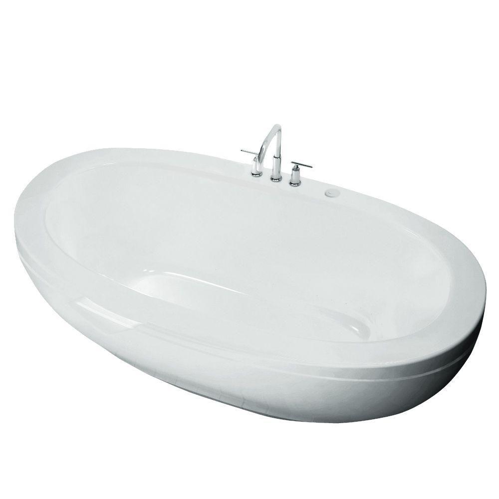 Romance Acrylic Freestanding Whirlpool Bathtub in White