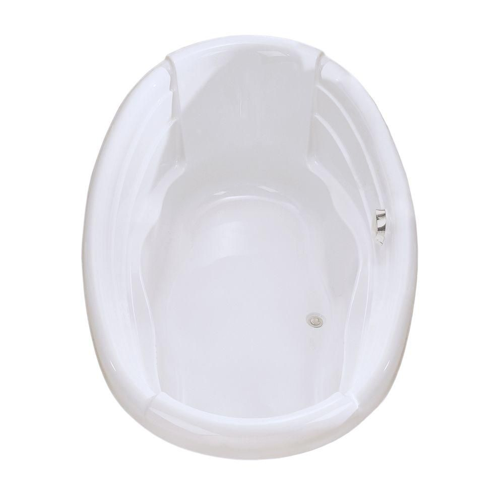 Maax dolce vita acrylic soaker bathtub in white the home for Acrylic soaker tub