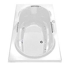 Antigua Acrylic Whirlpool Bathtub with Hydrosens and Polished Chrome Grab Bars
