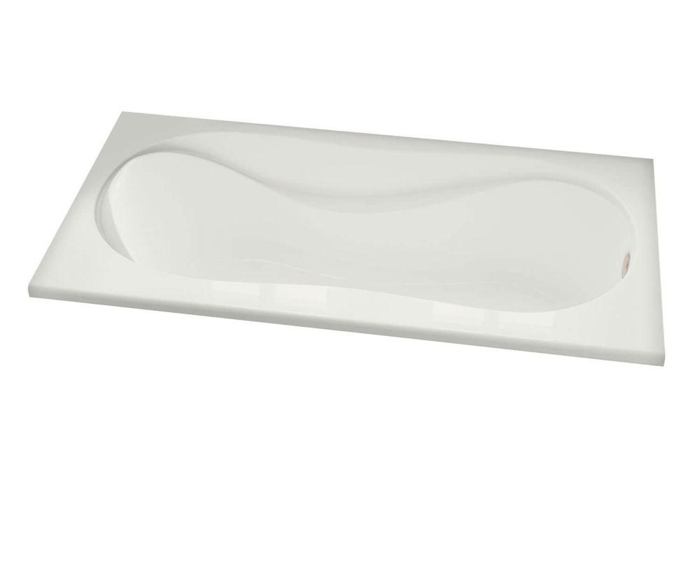 MAAX Cocoon Acrylic Soaker Bathtub in White