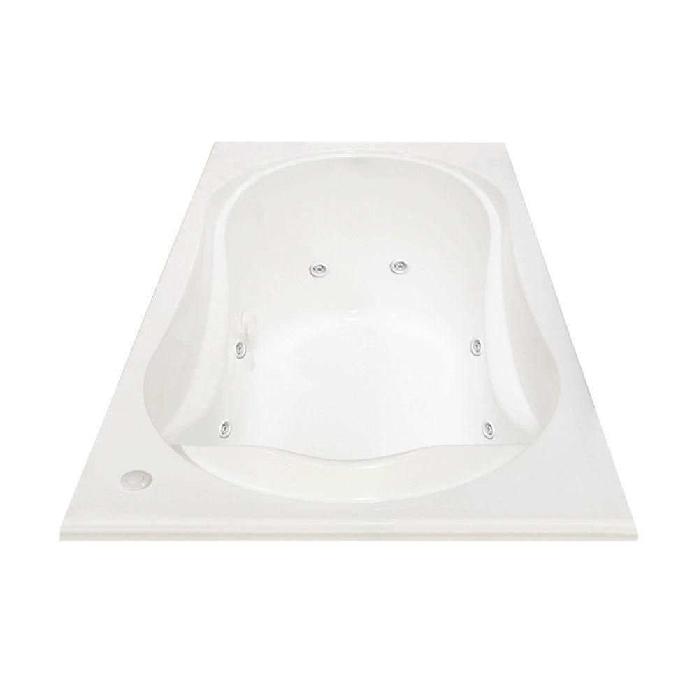 Cocoon Acrylic Whirlpool Bathtub with Hydrosens in White