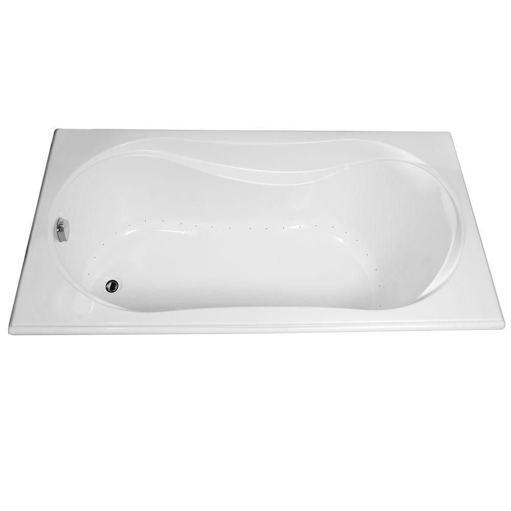 MAAX Cocoon Acrylic Aerosens Bathtub in White