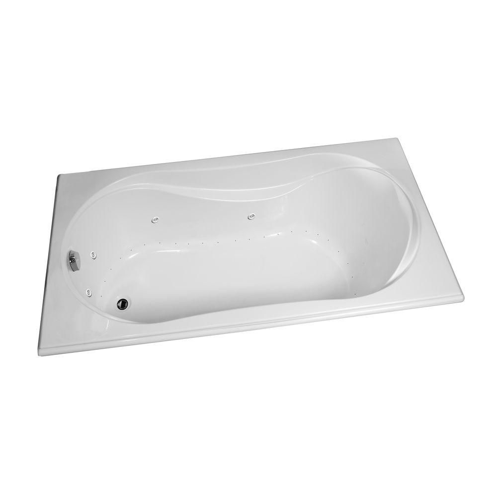 Cocoon Acrylic Bathtub with Combined Hydrosens/Aerosens in White