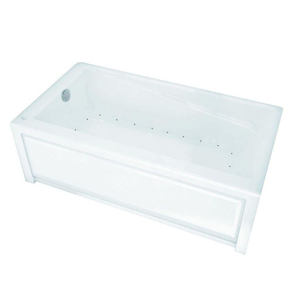 MAAX New Town 6030IFS Aerosens White Acrylic Tub with Integrated Flange and Skirt with Left-Hand Drain
