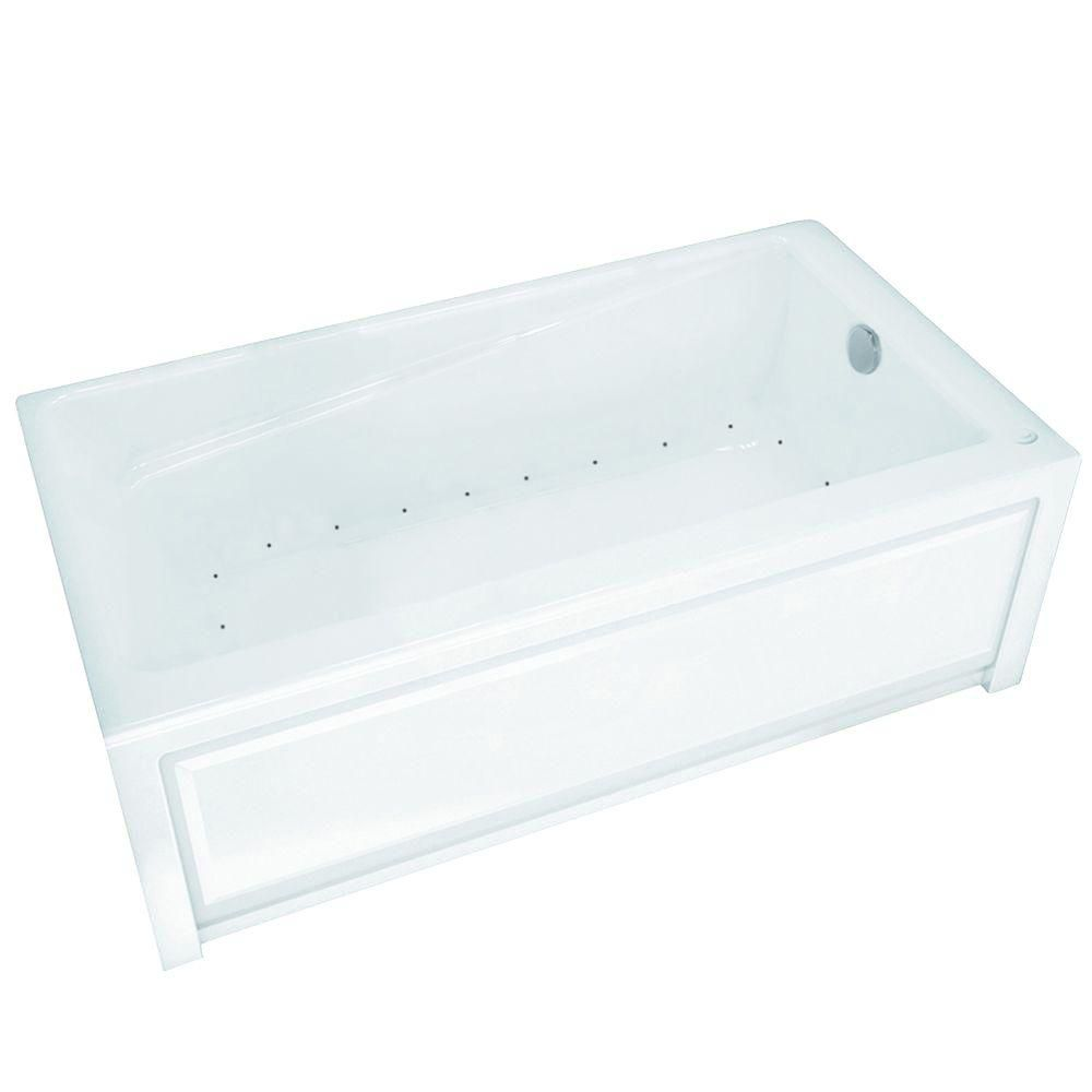 MAAX New Town 6030IFS Aerosens White Acrylic Tub with Integrated Flange and Skirt with Right-Hand Drain