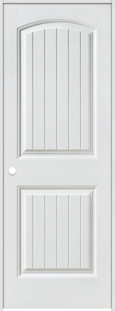 Porte intérieure prémontée 2 panneaux planches avec rabbeted 32 pouces x 80 pouces, ouverture dro...